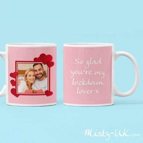 Lockdown Lover Valentines Personalised Mug