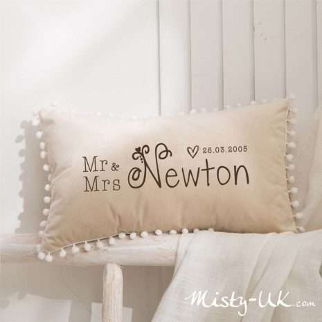Personalised Luxury Velvet Cushion Pillow